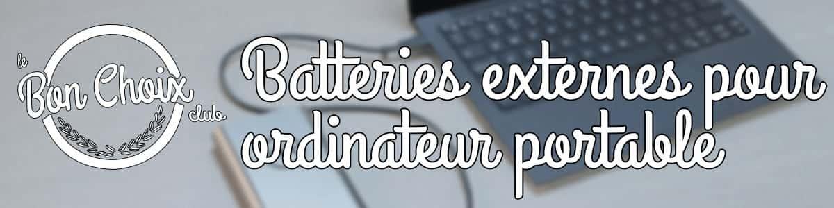 batterie externe pour ordinateur portable
