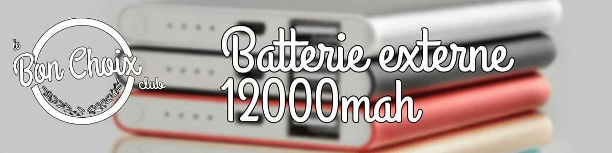 Batterie externe 12000 mah - Achat / Vente pas cher