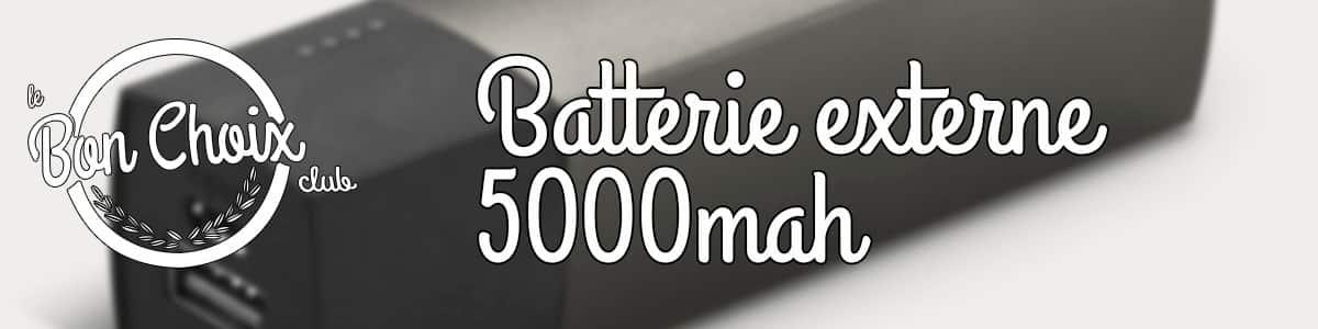 batterie de secours 5000mah
