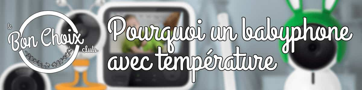 Babyphone Avec Alarme De Température