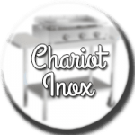 chariot plancha inox
