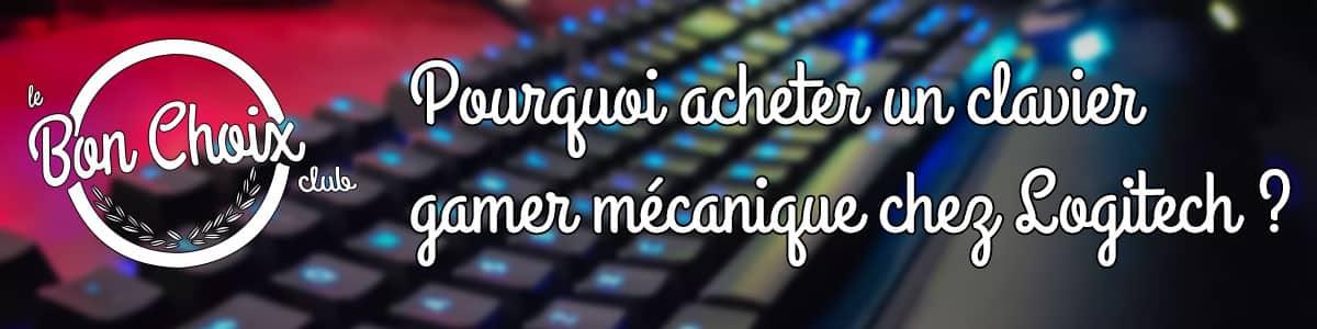 acheter clavier rgb logitech gaming